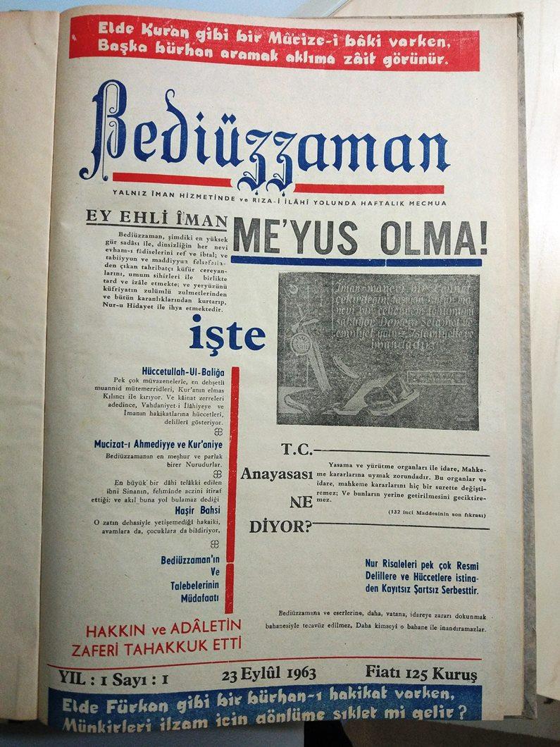 Risale-i Nur tarihinin ilk gazeteleri 1