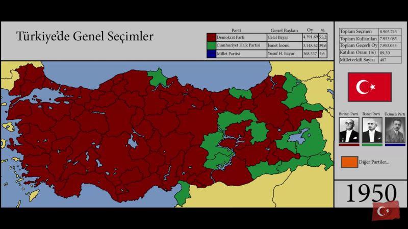 Haritalarla Türkiye'nin seçim tarihi 1