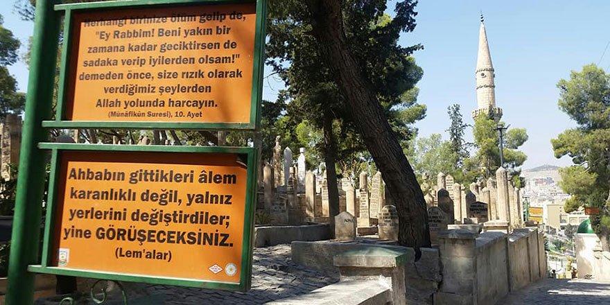 Şanlıurfa Bediüzzaman Mezarlığı levhaları