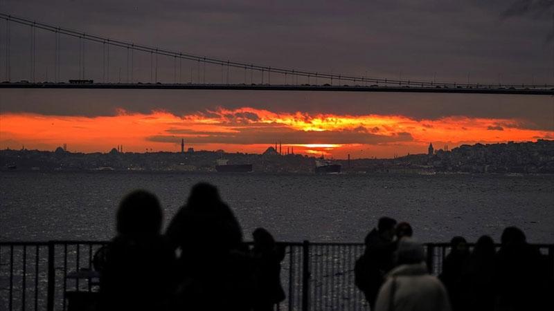 İstanbul'da gün batımı 1