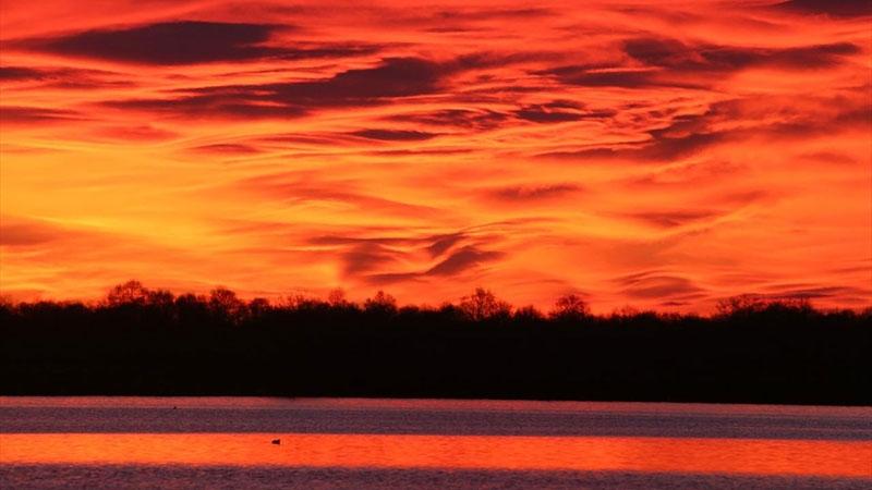 Kızılırmak Deltası'nda gün doğumu Subhanallah dedirtiyor 1