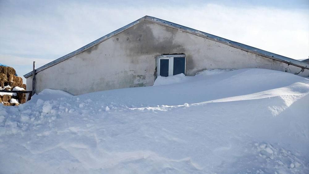 Burası Erzurum: Kar çatıya dayandı, evden tünelle çıkıyorlar 1