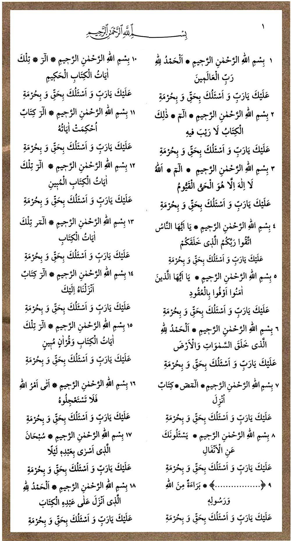 Hazret-i Ali'den Bedîüzzaman'a: Kenzül Arş duası 1
