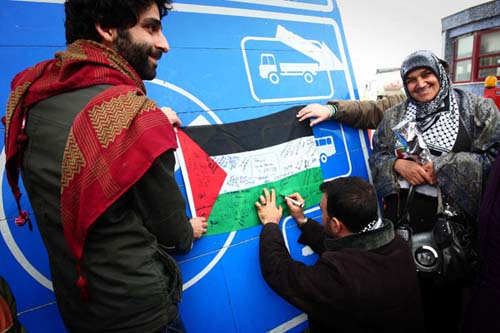 Filistin konvoyundan fotolar 8