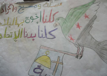 Mülteci çocukların kaleminden Suriye olayları