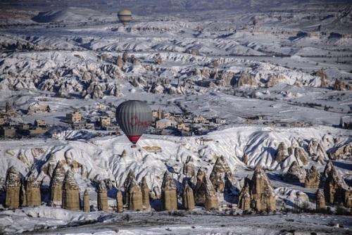 Kapadokya'da sıfırın altında balon turu 1