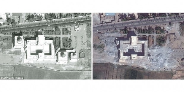 Uydudan Suriye'nin yıkılan tarihi 1