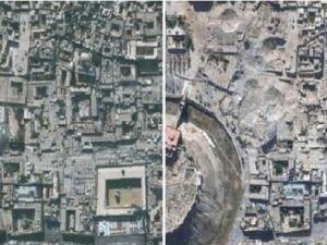 Uydudan Suriye'nin yıkılan tarihi