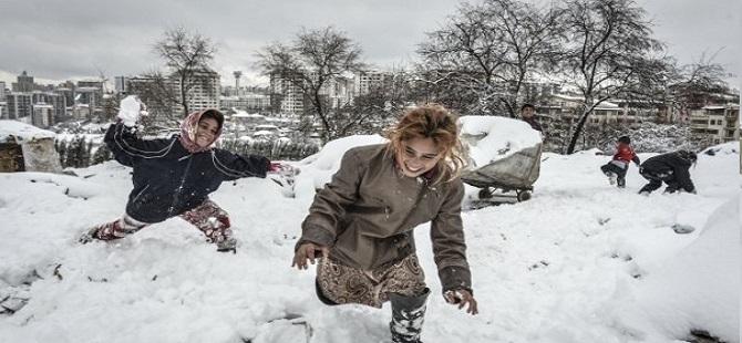 Ankara'daki Suriyelilerin soğukla mücadelesi 1