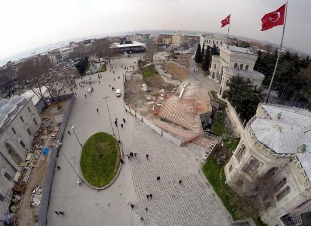 Tarihi Beyazıt Meydanı havadan görüntülendi 1