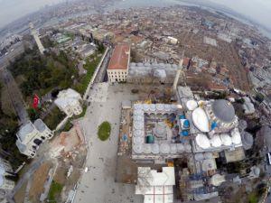 Tarihi Beyazıt Meydanı havadan görüntülendi