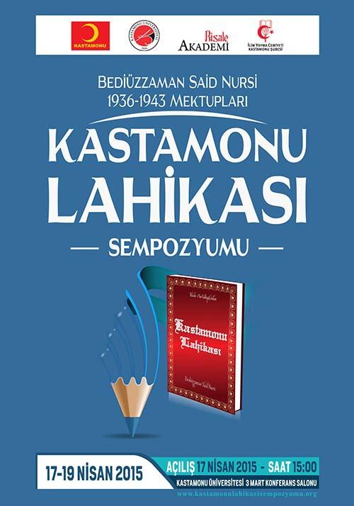 Kastamonu Lahikası Sempozyumu programı 1