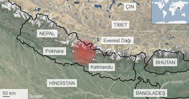 Nepal'deki deprem 20 atom bombası gücünde 1