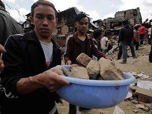 Nepal'in deprem sonrası fotoğrafları