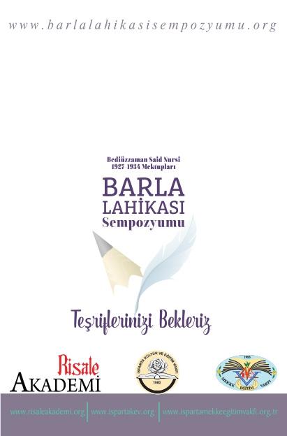 Barla Lahikası Sempozyumu Programı 2