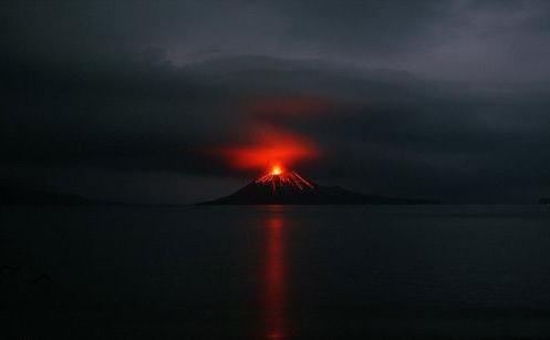 Krakatoa yanardağı patladı 2