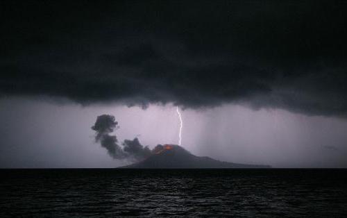 Krakatoa yanardağı patladı 3