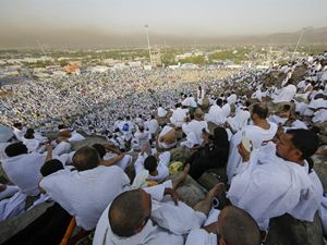 Arafat vakfesinden güzel manzaralar