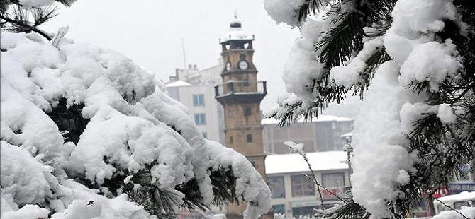Yozgat'ta kar yağışı 1