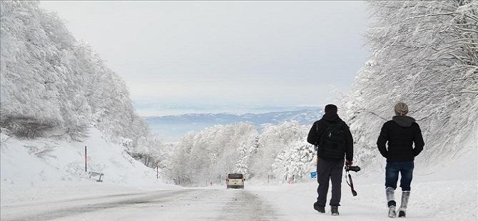 Domaniç Dağları beyaza büründü 1