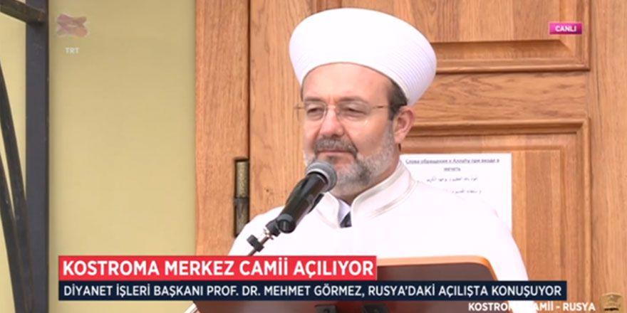 Mehmet Görmez: Said Nursi Kostroma camisinde Tatarlara Kur'an öğret