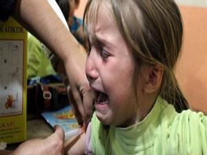 Suriyeli 800 çocuğa aşı yapıldı