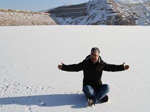 Termometreler - 20'yi gösterdi, Göyne Barajı buz tuttu