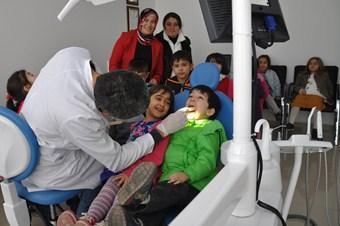 Anaokulu öğrencilerine ağız ve diş sağlığı taraması