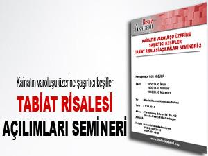 Tabiat Risalesi açılımları semineri