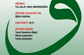 Son 800 yılı okumak için Osmanlıca kursu