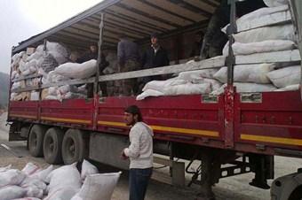 Suriye'ye 8 tır yardım malzemesi