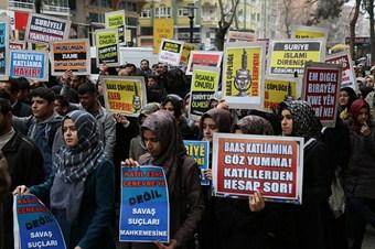 Diyarbakır'da Yermuk protestosu