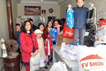 Yozgatlı öğrencilerden Suriyeli sığınmacılara yardım