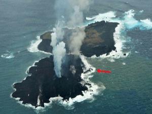 Okyanus'ta ortaya çıkan ada 30 kat büyüdü