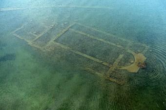 Su altındaki tarihi bazilika ilk kez görüntülendi