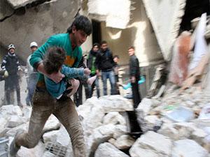 Varil bombaları Halep'i cehenneme çevirdi
