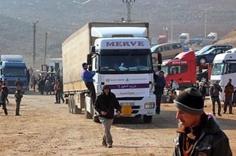 Suriye'nin nefes borusu tır aktarma alanı