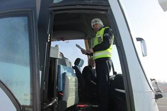 Otobüs ve servis araçlarına kış denetimi arttı