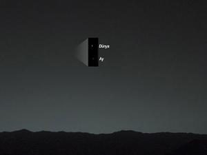 Dünya ve ay Mars'tan böyle görünüyor