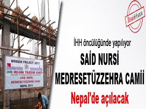 Nepal'de Said Nursî Medresetüzzehra camii açılacak