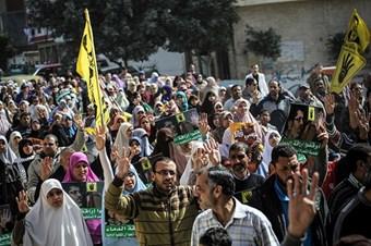 Mısır'da Rabia Devrimin Sembolü gösterileri