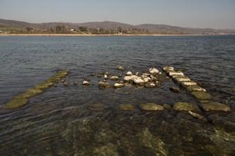 Sular çekildi, binlerce yıllık tarih ortaya çıktı