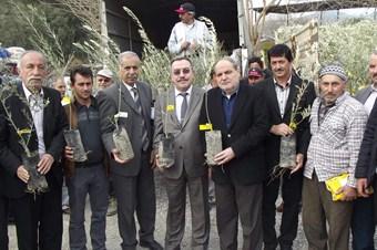 Aydın'da köylülere 17 bin fidan dağıtıldı