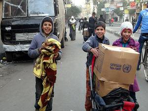 Yermuk'ta yardım dağıtımı tekrar başladı