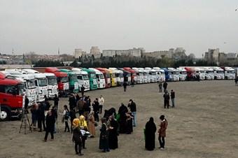 154 yardım tırı Suriye yolunda