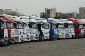 Suriye'ye 2 ayda 817 yardım tırı