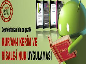 Cep telefonları için Kur'an-ı Kerim ve Risale-i Nur uygulaması
