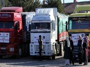 Fatsa'dan Suriye'ye 6 TIR yola çıktı