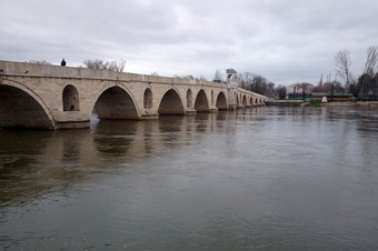 Adacıklarının oluştuğu Meriç Nehri suya kavuştu