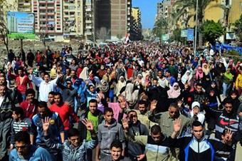 Mısır'da öğrencilerden darbe karşıtı gösteri